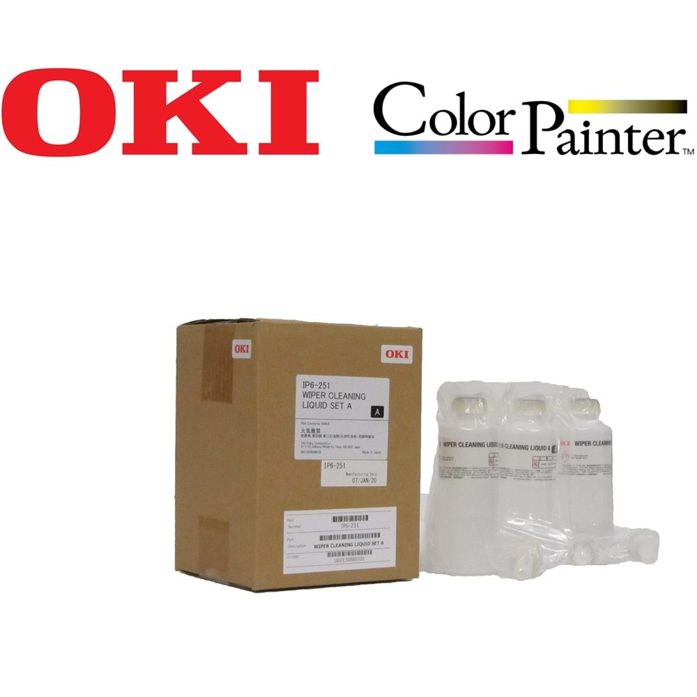OKI IP6-251 WIPER CLEANER LIQUID SET